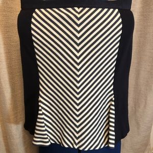Ann Taylor | Navy Blue Striped Skirt 8